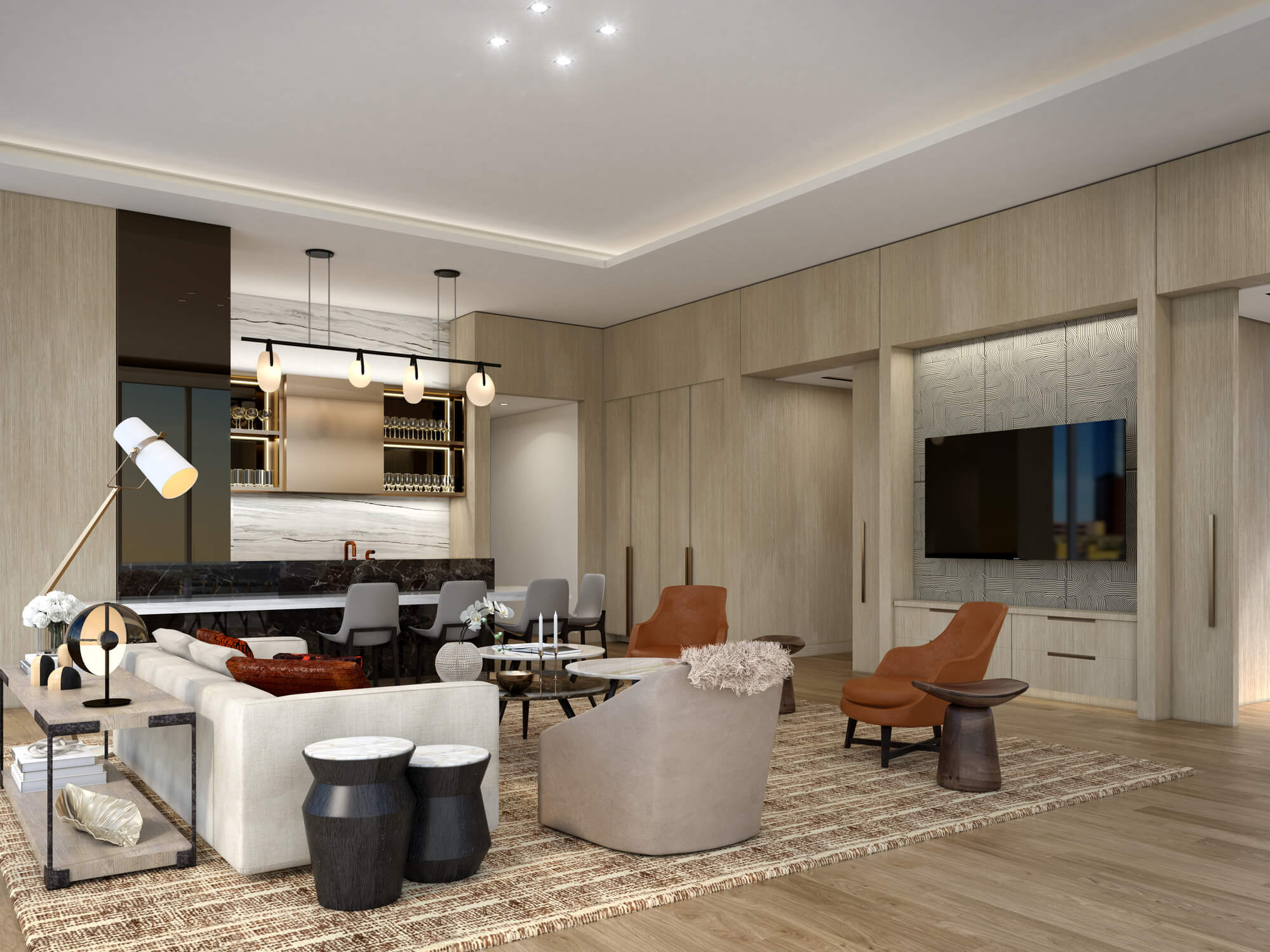 THEA luxury kitchen with seating area