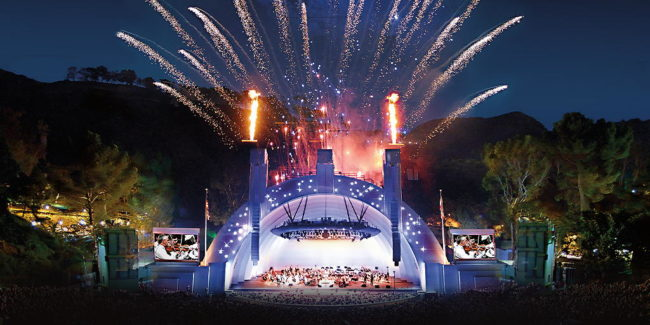Hollywood Bowl Fourth of July near THEA residences in Downtown Los Angeles