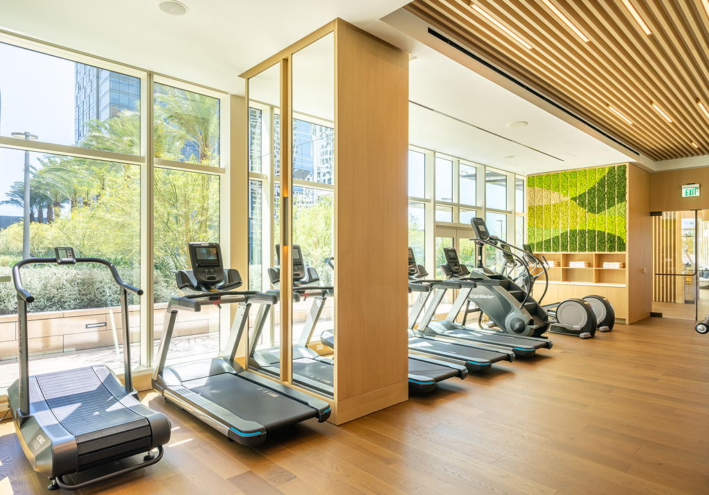 THEA fitness center at THEA residences in Downtown Los Angeles